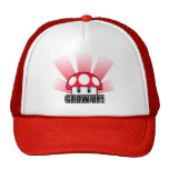 Grow Up Red Mushroom Powerup Mesh Hats