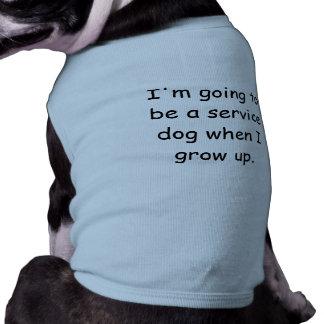 Grow Up Service Dog Pet Shirt