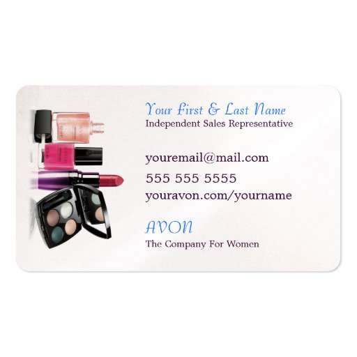 Grow With AVON Business Cards