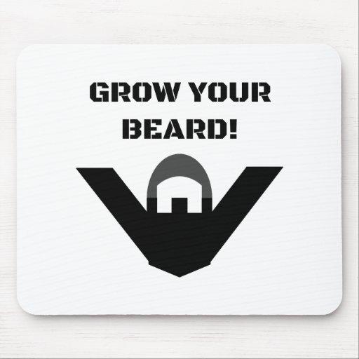 Grow Your Beard! Mousepads