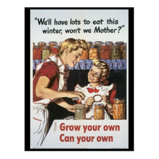 Grow Your Food World War 2 Postcard