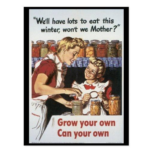 Grow Your Food World War 2 Postcard