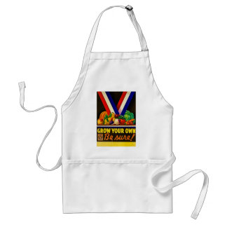 Grow Your Own Be Sure Vintage Victory Garden WWII Apron