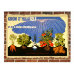 Grow your own garden - poster (vintage reprint) post cards