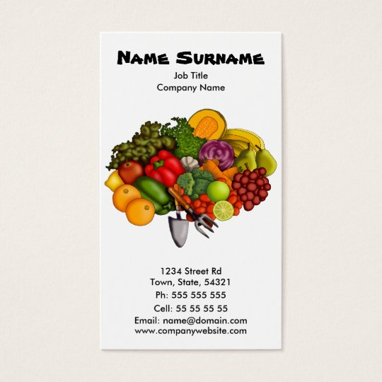 Grow Your Own (on white), business card