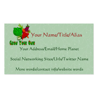 Grow Your Own Pack Of Standard Business Cards