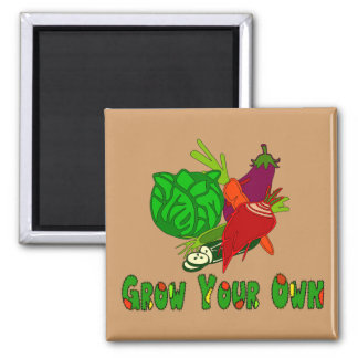 Grow Your Own Square Magnet