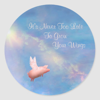 Grow Your Wings Classic Round Sticker