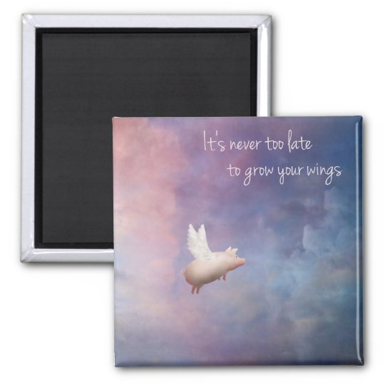 grow your wings square magnet