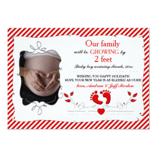 Growing by 2 Feet Holiday Pregnancy Announcement