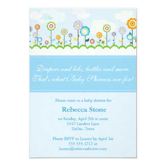growing garden baby shower invitation