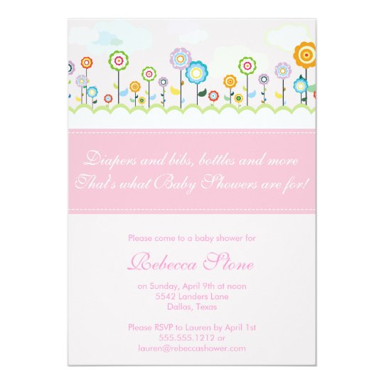 growing garden baby shower invitation