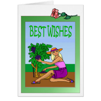 Growing grapes greeting card