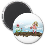 Growing Hearts 6 Cm Round Magnet
