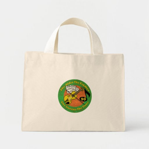 Growing Older 90th Birthday Gifts Canvas Bags