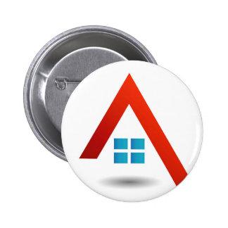 growing real estate market 6 cm round badge