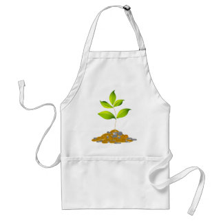 Growing Wealth Plant Icon Adult Apron