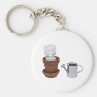 GrowingGreenClayPot062709 Basic Round Button Key Ring