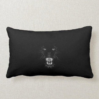 growling black panther lumbar cushion
