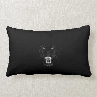 growling black panther lumbar pillow