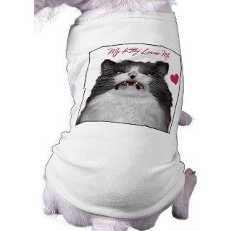 Growling Cat Doggie Ribbed Tank Top Sleeveless Dog Shirt