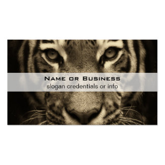 Growling Tiger Face in Sepia Tones Double-Sided Standard Business Cards (Pack Of 100)