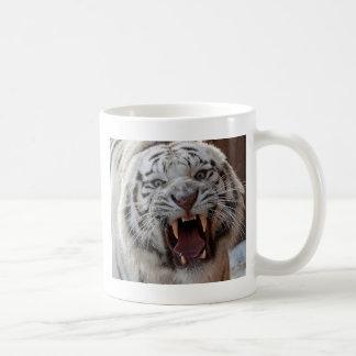 Growling White Tiger Mug