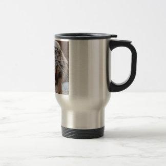 Growling White Tiger Coffee Mug