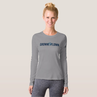 Grown And Flown Long Sleeve Women's Gray T-Shirt