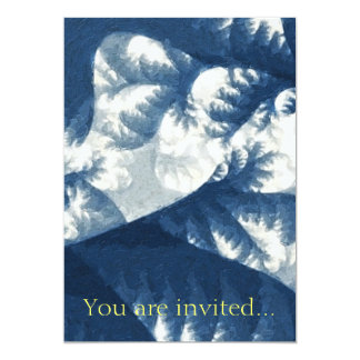 Growth 1 Blue 13 Cm X 18 Cm Invitation Card
