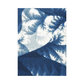 Growth 1 Blue Gallery Wrap Canvas