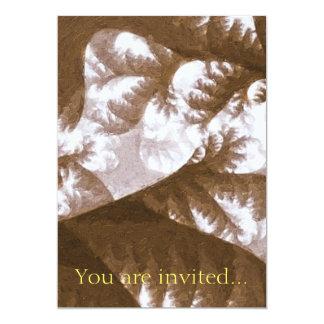 Growth 1 Brown 13 Cm X 18 Cm Invitation Card