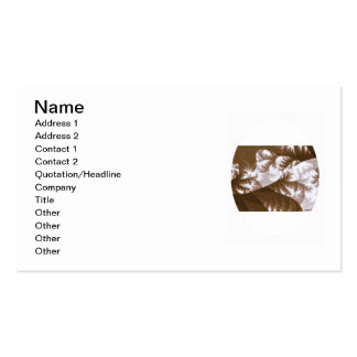 Growth 1 Brown Double-Sided Standard Business Cards (Pack Of 100)