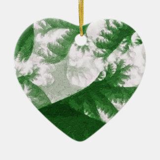 Growth 1 ceramic heart decoration