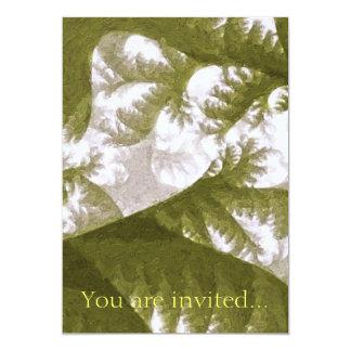 Growth 1 Olive 13 Cm X 18 Cm Invitation Card