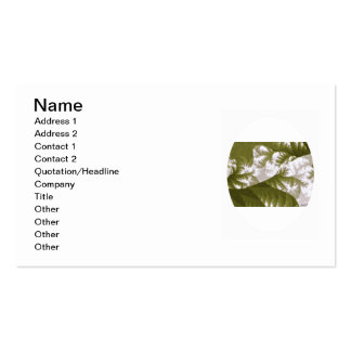 Growth 1 Olive Double-Sided Standard Business Cards (Pack Of 100)