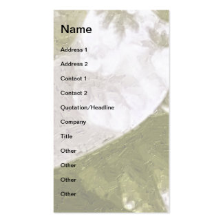 Growth 1 Olive Pack Of Standard Business Cards