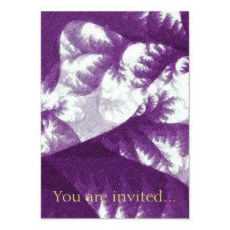 Growth 1 Purple 13 Cm X 18 Cm Invitation Card