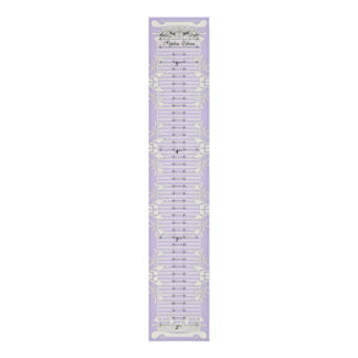 Growth Chart - Our Princess Hearts Swirls Banner