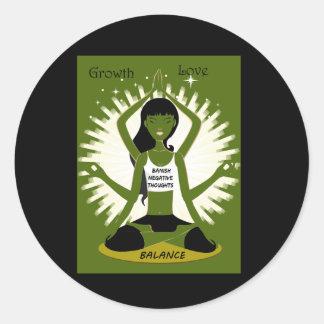 Growth Love and Balance Classic Round Sticker