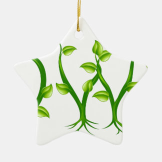 Growth plant typography concept ornament