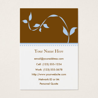 Growth Profile Business Card