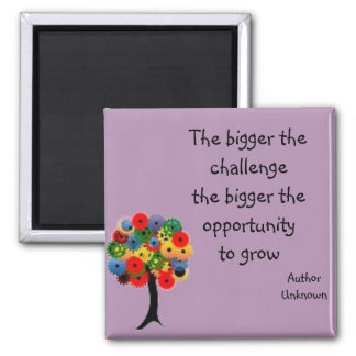 """""""Growth"""" Quote Magnet Purple / Avalon Media"""