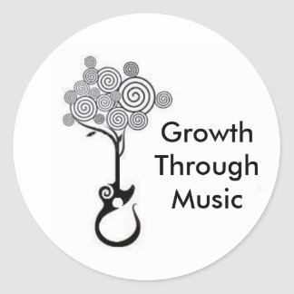 Growth Through Music Sticker