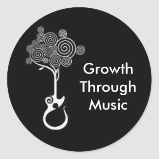 Growth Through Music Sticker (Black)