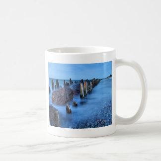 Groyne on the Baltic Sea coast Coffee Mugs