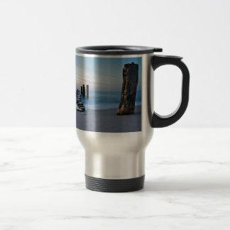 Groyne on the Baltic Sea coast Stainless Steel Travel Mug