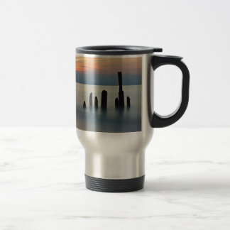 Groynes and sunset on the Baltic Sea coast Coffee Mug