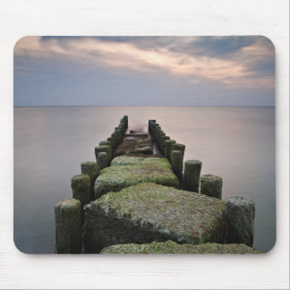 Groynes on shore of the Baltic Sea Mouse Pad