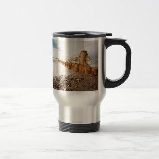 Groynes on shore of the Baltic Sea Coffee Mug